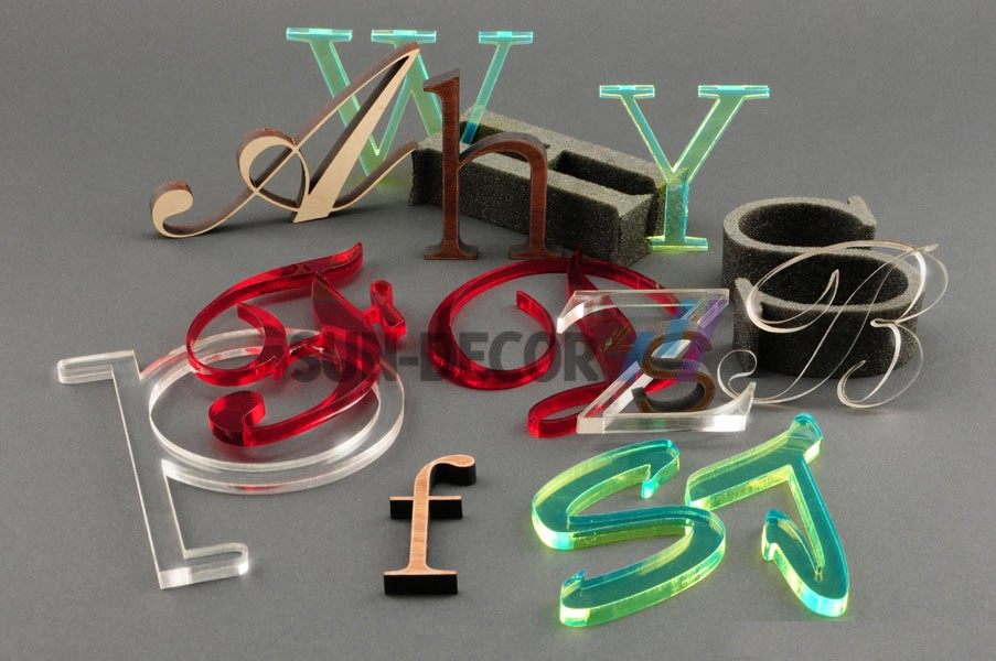 The advantages of using laser cutting acrylic sheet sundecor for Acrylic letter cutting